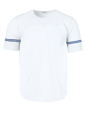 Stripe sleeves t-shirt WHITE BLUE