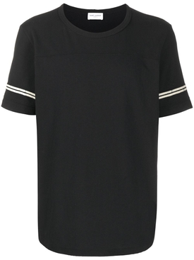 Stripe sleeves t-shirt BLACK WHITE