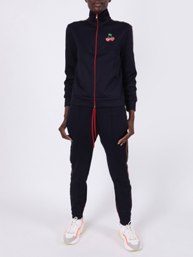 Navy cherry logo track jacket