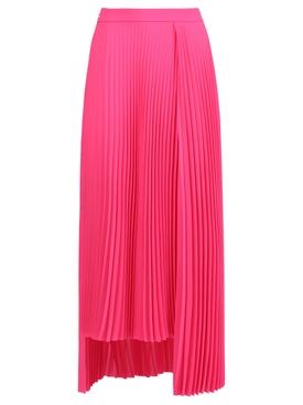 Asymmetric Pleated Skirt, pink