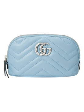 Light blue GG Marmont makeup bag