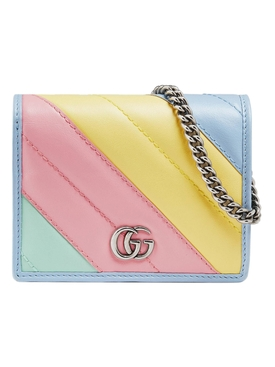 Multicolored GG Marmont mini wallet bag