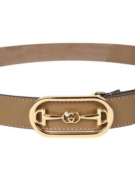 Taupe Horsebit Belt