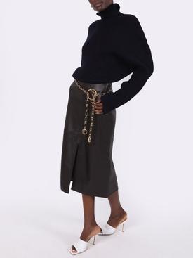 Navy wool turtleneck sweater