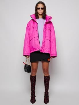 C Shape Parka Shocking Pink