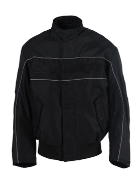 Black and grey racing jacket
