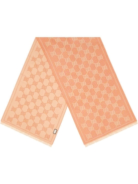 Pink & Beige Iconic Logo Print Scarf