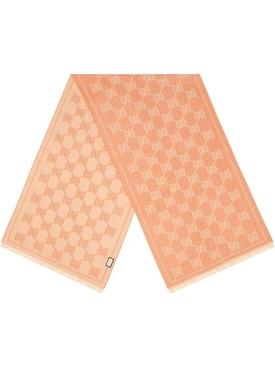 Pink & Beige Iconic Logo Print Scarf