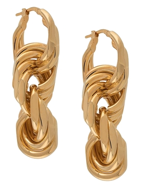 Golden Multi-hoop Earrings