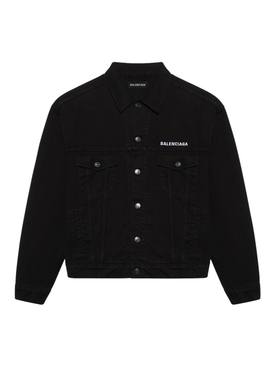 Black denim oversize jacket