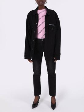 Black denim buttoned jacket
