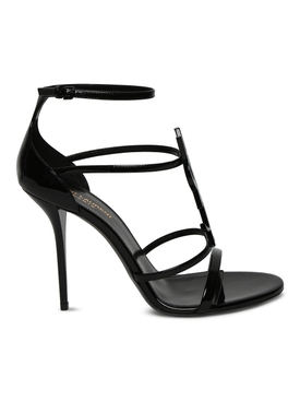 Cassandra 110mm sandals, Black Patent
