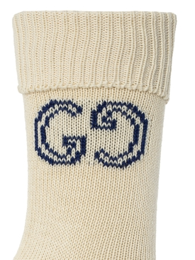 Interlocking G High socks IVORY