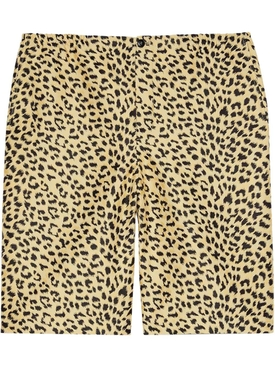 Leopard Print Cotton Shorts