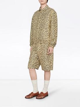 Leopard Print Cotton Shorts