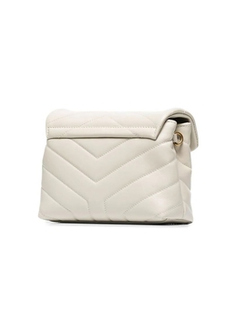 Quilted Mini Loulou Crossbody Bag CREMA SOFT
