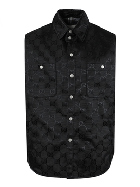 GG BLACK CANVAS NYLON VEST