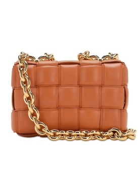 THE CHAIN CASSETTE LEATHER BAG CLAY
