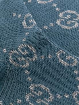 Blue GG Lurex Logo Socks