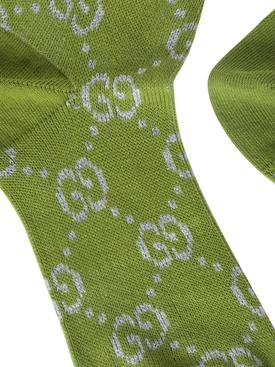 GG lurex logo socks CITRON