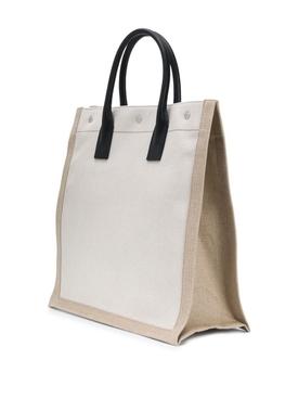 Linen logo tote bag