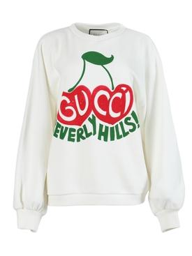 Cherry Logo Pullover Sweatshirt