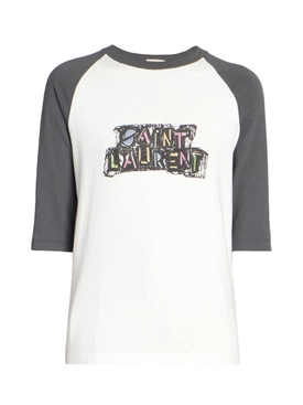 White and grey raglan t-shirt