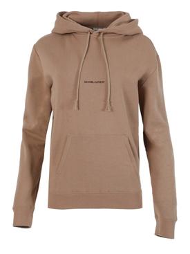Brown Logo hoodie