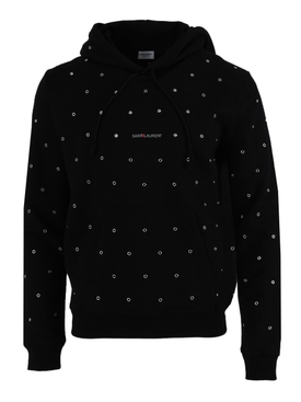 Perforated Logo Hoodie BLACK