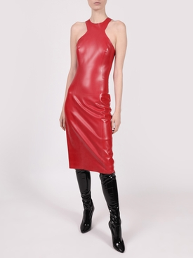 Latex Racer Midi Dress