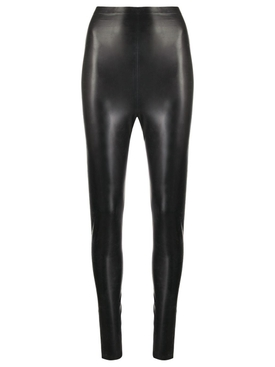 Black Latex Leggings