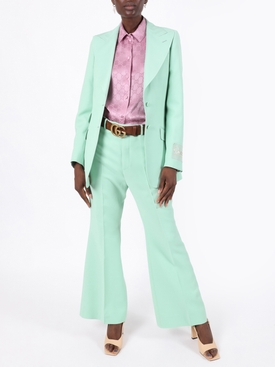 Pastel mint blazer jacket