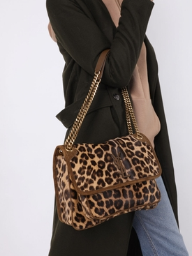 Medium Leopard Niki Shoulder Bag