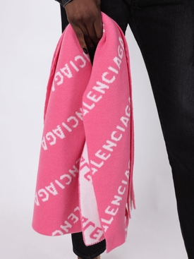 Bright pink reversible scarf