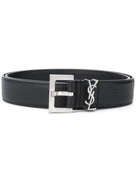 classic monogram belt black