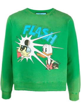X Disney Donald Duck Sweatshirt, Yard Green