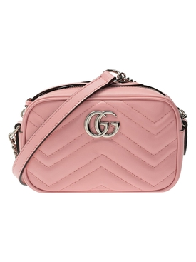 GG Marmont mini leather bag WILD ROSE