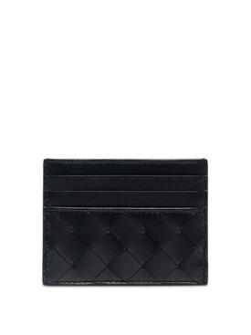 Intrecciato Card Holder Black