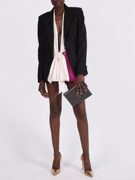 Fushia lamb leather shorts