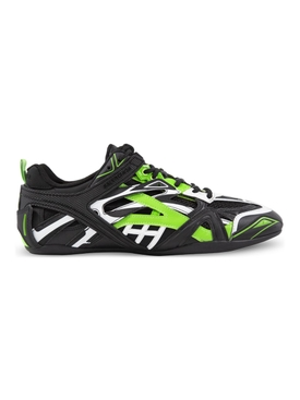Low Top Drive Sneakers Fluorescent Green and Black