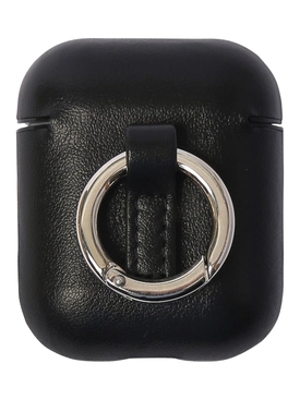 Black leather AirPods case