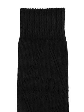 Monogram Knit Socks Black