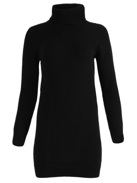 Black cashmere sweater mini dress
