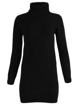 Black cashmere sweater mini dress