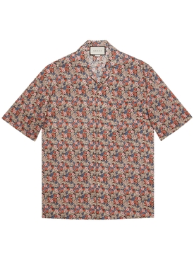 Multicolored Floral-Print Short-Sleeve Shirt