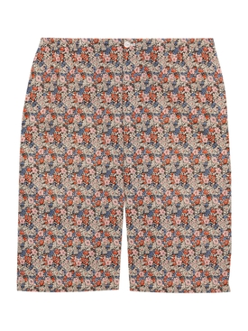 Multicolored Floral-Print Shorts