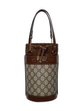 1955 Horsebit Bucket Bag, brown
