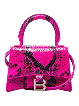 Mini Hourglass Top Handle Bag, Fuchsia