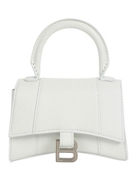 Hourglass mini top handle bag WHITE