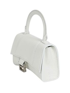 Hourglass mini top handle bag WHITE